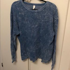 Blue American apparel thick long sleeve tee